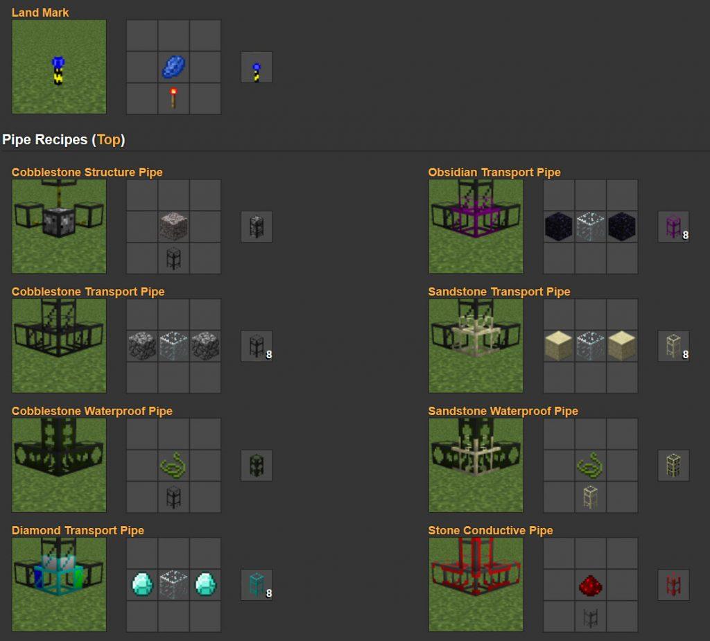 BuildCraft Mod Crafting Recipes 4