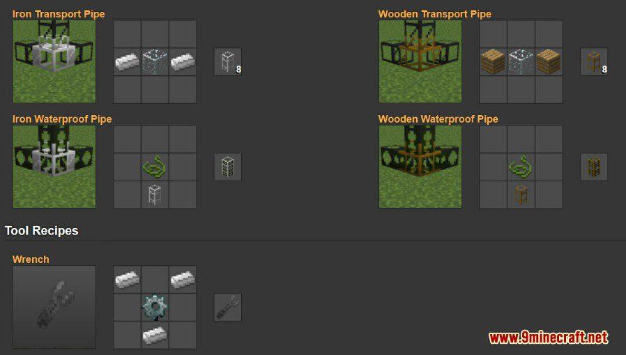 BuildCraft Mod Crafting Recipes 6