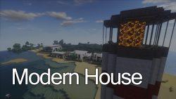 Minecraft Modern House Map Thumbnail