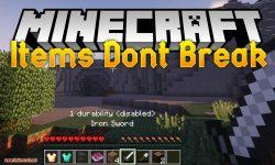 Items Dont Break mod for minecraft logo