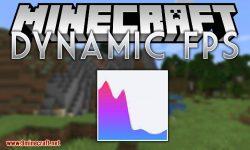 Dynamic FPS mod for minecraft logo