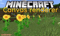 Canvas Renderer mod for minecraft logo