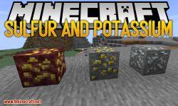 Sulfur and Potassium mod for minecraft logo