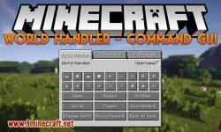 world handler command gui mod for minecraft logo