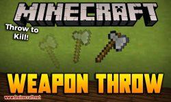 Weapon Throw mod for minecraft logo