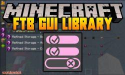 FTB GUI Library mod for minecraft logo
