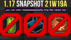 Minecraft 1.17 Snapshot 21w19a