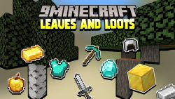 Minecraft But Leaves Are OP Data Pack Thumbnail