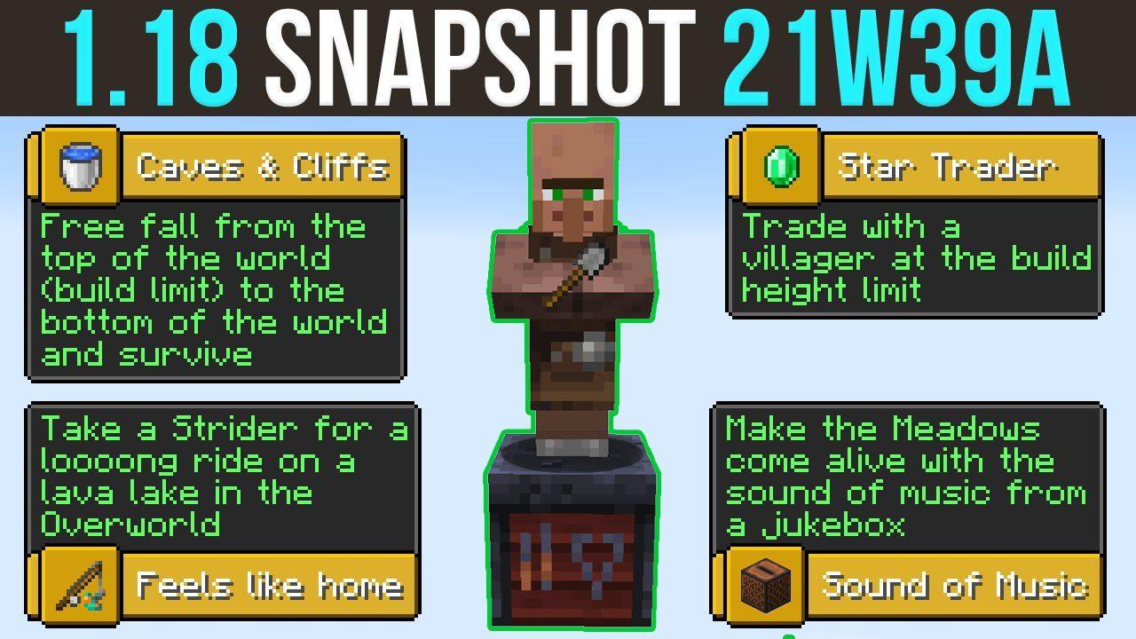 Minecraft 1.18 Snapshot 21w39a