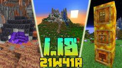 Minecraft 1.18 Snapshot 21w41a